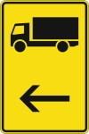Zeichen 422-10: Vorwegweiser für bestimmte Verkehrsarten.
