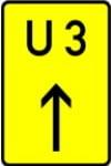 Zeichen 455: Nummerierte Umleitung (Fortsetzung der Umleitung)