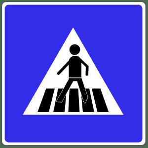 VZ 350: Fußgängerüberweg (Hinweis)