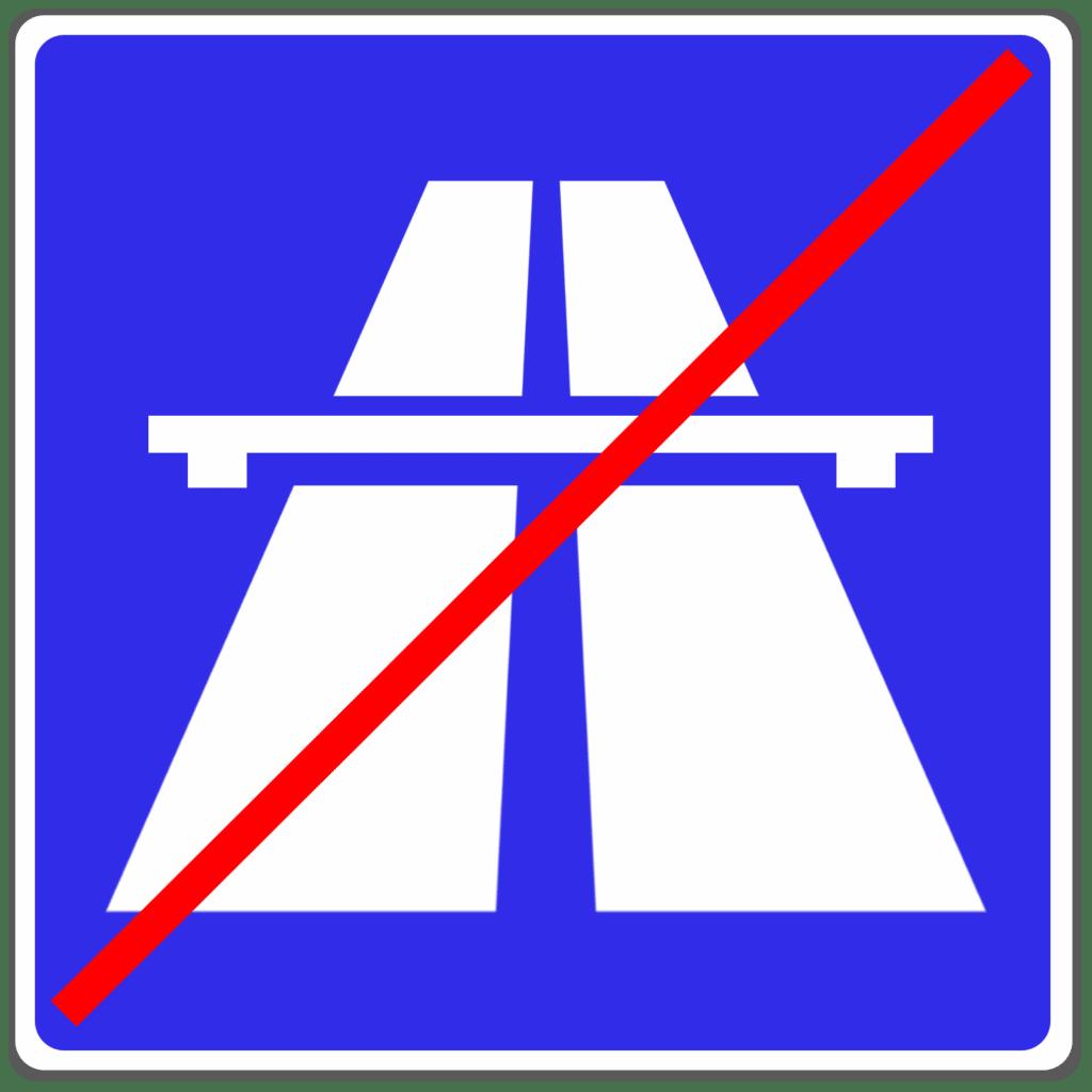 VZ 330.2: Ende der Autobahn