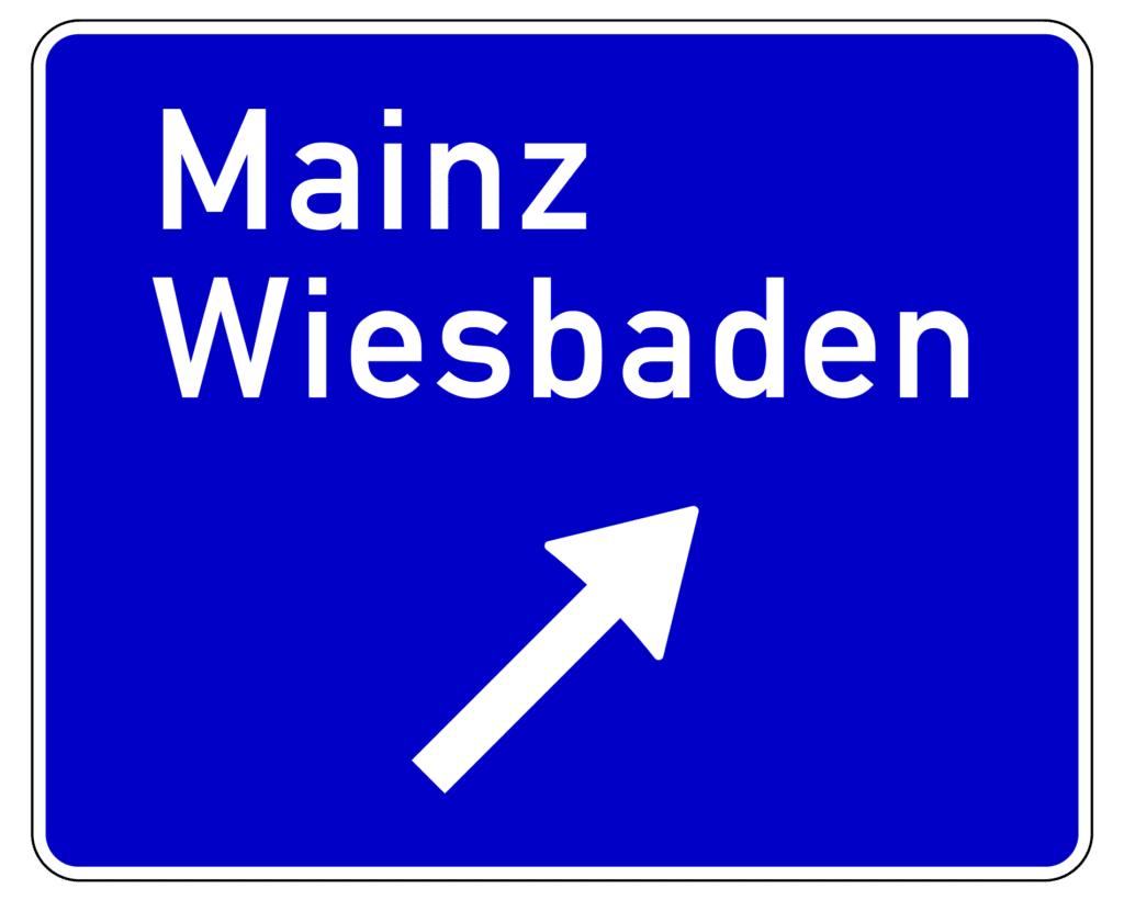 VZ 332: Ausfahrttafel auf Autobahnen