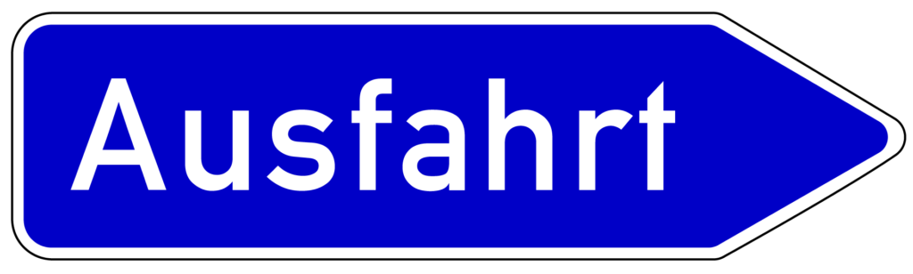 VZ 333: Ausfahrt von der Autobahn