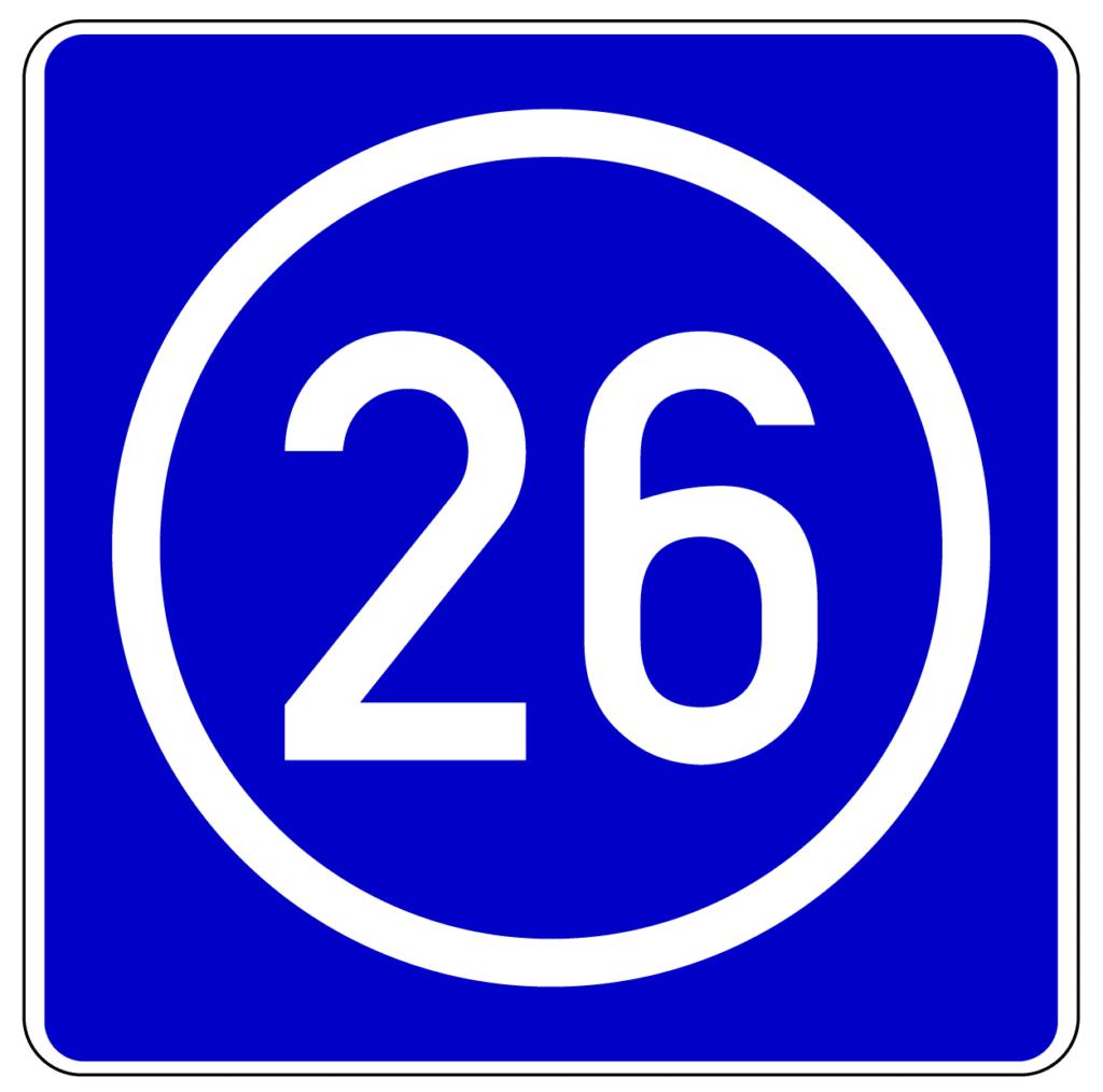 VZ 406: Knotenpunkte der Autobahnen