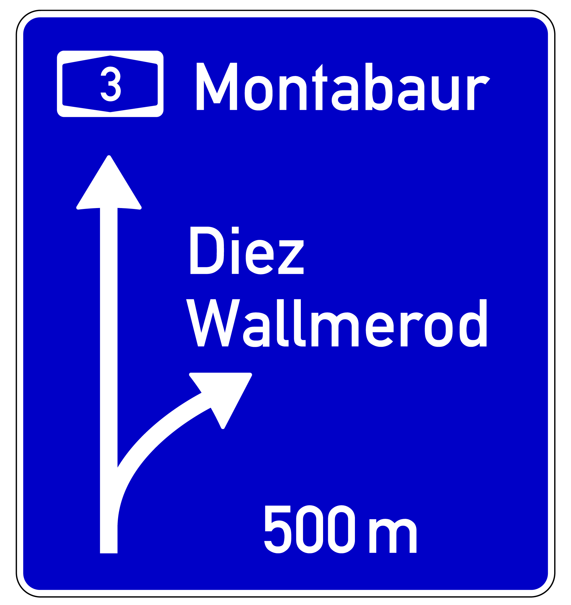 VZ 449: Vorwegweiser auf Autobahnen